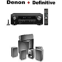 Denon AV Component Receiver (AVRS740H) + Definitive Technology ProCinema 600 5.1 Home Theater Speaker System Bundle