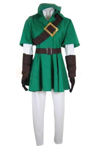 UU-Style The Legend of Zelda Link Coat Jacket Pants Hoodie Outfit Suit Uniform Cosplay (Costume Intero 2016)