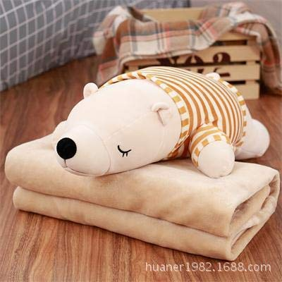 EXTOY 70Cm Polar Bear Pillow Plush Toy Doll Three in One M Hands with Air Conditioning Blanket U Must Have 7 Year Old Girl Gifts The Favourite Comic Superhero Toys UNbox Dolls from EXTOY