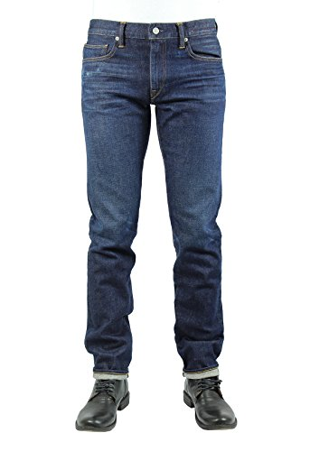 14 Ounce Organic Cotton (HIROSHI KATO Jeans Men's The Pen Slim Straight Tyler 14 oz 4-Way Stretch Selvedge Denim Slim Fits Made in USA Tyler 30)