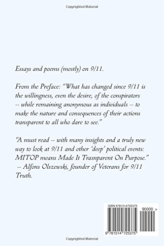 the transparent conspiracy essays and poems mostly on  the transparent conspiracy essays and poems mostly on 9 11 michael david morrissey 9781514725375 com books