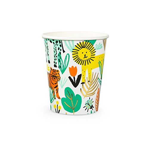 Daydream Society Into The Wild Jungle Animal Paper Party Cups, Pack of 8