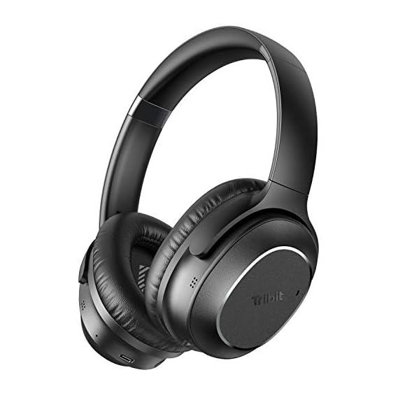 Tribit QuietPlus 72 Bluetooth Headphones, 32dB Hybrid Active Noise Cancellation Wireless Headphones, 30H Playtime, CVC8