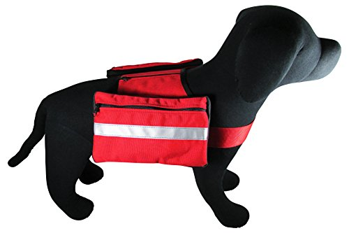 [해외]Petflect 프리미엄 개 안장, 보통 대형/Petflect Premium Dog Saddlebag, Medium Large