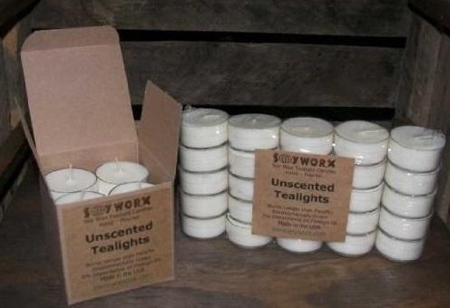 200 Soy Tealights By Soyworx Unscented All Natural Color Tea Light