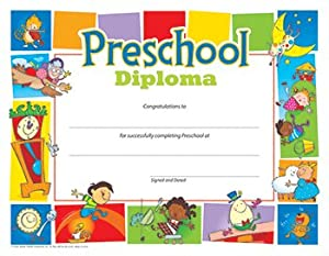 Amazon.com: Preschool Diploma 8-1/2 x 11 Inch - 30 Pack ...