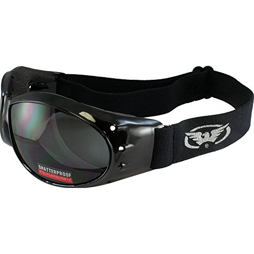 (Global Vision Eliminator Airsoft Goggles Smoke Lens Low Profile Goggle with Soft Airy Foam Padding)