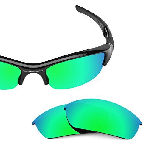 b49ec459eb Revant Polarized Replacement Lenses for Oakley Flak Jacket Emerald Green  MirrorShield