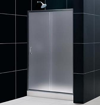 Puerta para baño con nicho 1 puerta corredera de cristal 100 cm ...