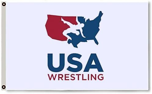 Amazon Com Super Usa Wrestling Flag Logo For Wrestling Season 35 Foot Garden Outdoor
