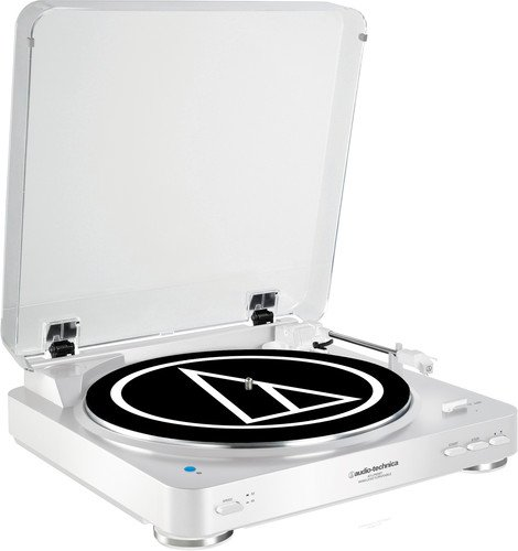 Audio-Technica AT-LP60WH-BT Fully Automatic Wireless Belt-Drive Stereo Turntable (Bluetooth & Analog), White