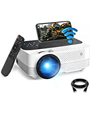 $70 » Mini Projector 1080p HD, WiFi Projector, 6500L Movie Projector with Synchronize Cellular Phone Screen, Video Projector Compatible with TV Stick, PS4/5, HDMI, USB, AV, SD, Laptop (2021 Upgraded)