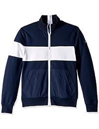 Men's Adaptive Sweatshirt with Magnetic Zipper and Mock Neck