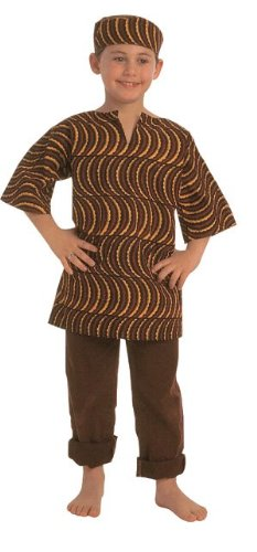 """African American Multi-Cultural Boy Costume, 23"""" Height, ..."""