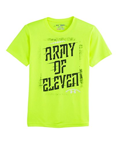 Under Armour Big Boys' UA Army Of 11 T-Shirt Youth Small High-Vis Yellow