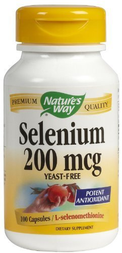 Natures Way Selenium, 100 Caps, 200 mcg (Pack of 3) by Nature's Way ()