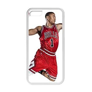 SANLSI Derrick Rose NBA Phone Case for Iphone 5c
