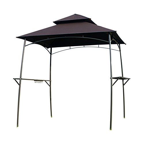Goodgojo BBQ Grill Gazebo Barbecue Canopy Garden Canopy Tent with 2Pcs Led Lights