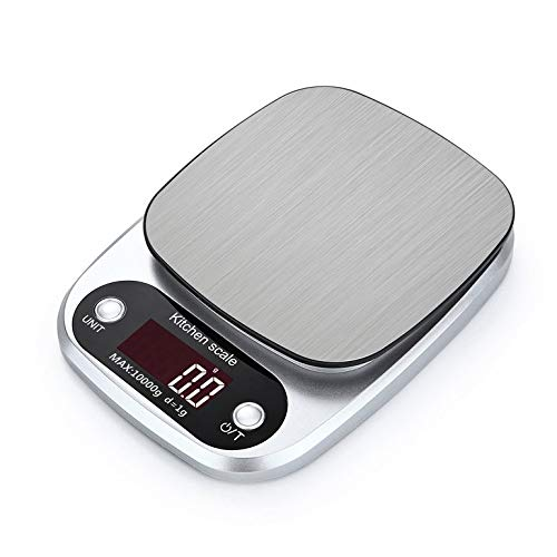 155 Food Display - HT-C305 Kitchen Weight Digital Scale Portable Stainless Steel Electronic LCD display Food Scales Accurate 10kg x 1g