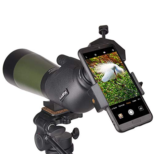 Gosky 20-60X60 Spotting Scope – BAK4 45 Degree Angled Eyepiece Waterproof Scope for Target Shooting Bird Watching Animal Watching Hunting Archery Scenery with Tripod, Phone Adapter and Carrying Bag