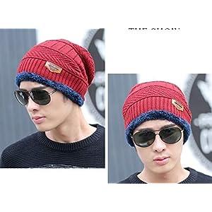 AlexVyan Ultra Soft Unisex Woolen Beanie Cap Plus Neck Scarf Set for Men Women Girl Boy – Warm, Snow Proof – 20 Degree…