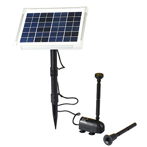 XXK Solar Fountain Water Pump Kit 10W Solar Panel Submersible Powered Pump for Small Pond, Garden Decoration, Pool, Birdbath...