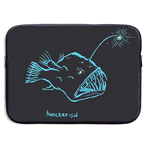 Anglerfish Monkfish 13-15 Inch Laptop Sleeve Bag Portable Dual Zipper Case Cover Pouch Holder Pocket Tablet Bag,Water Resistant,Black