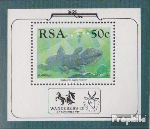 South Africa block22 (Complete.Issue.) 1989 Comoros-Quastenflosser (Stamps for Collectors) Water Animals