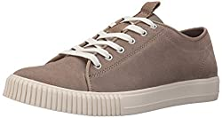 CK Jeans Men's Jerome Suede Canvas Fashion Sneaker, Stone/Stone, 8 M US