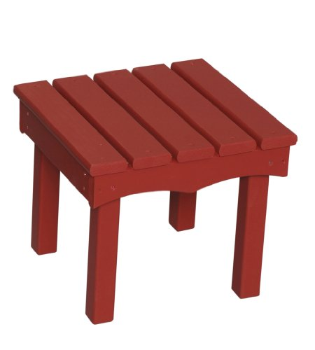 Little Colorado Child's Adirondack End Table- Red - Red Adirondack End Table