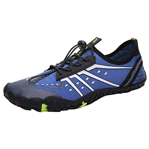 Bralonees Pair of Beach Shoes Climbing Diving Walking Unisex Adult Fitness Lightweight Sneaker Running Breathable Sports Blue