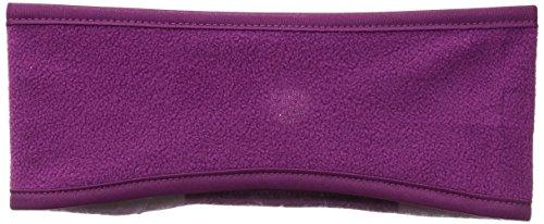 Headband Fleece (Hot Headz Women's Polarex Fleece Ponytail Ear Warmer Headband, Purple, One Size)