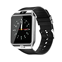 Smartwatch, Bluetooth Smart Watch and Unlocked Watch Cell Phone all in one for Android Smartphones Samsung Sony LG and IOS iPhone–Silver