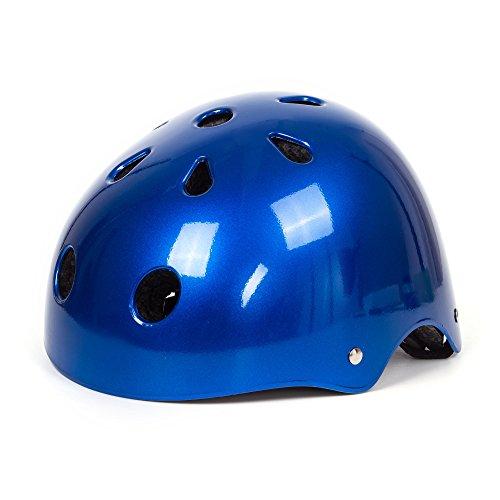 SUNVP Adult Bicycle Bike Skate Helmet Classic Multi-Sport Integrated Scooter BMX Helmets (Convertible Riding Glasses)