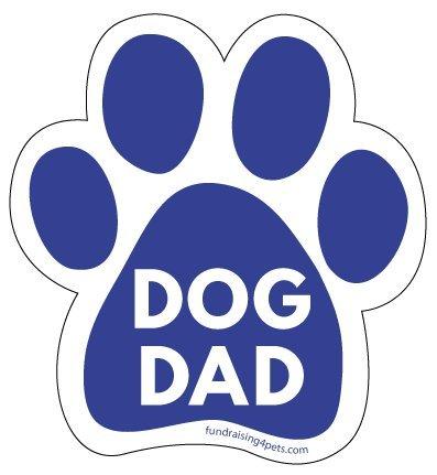Dog Dad Paw Print Magnet
