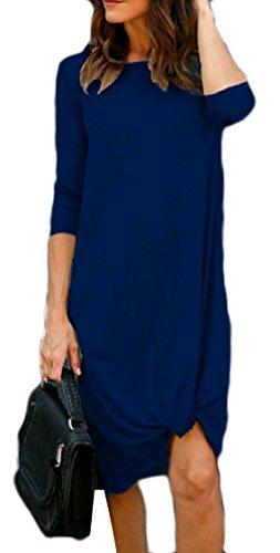 Fashionable Coolred Lounge Women Line Hem Dress Mid Long Pattern1 Sleeve Unique 6Uw60