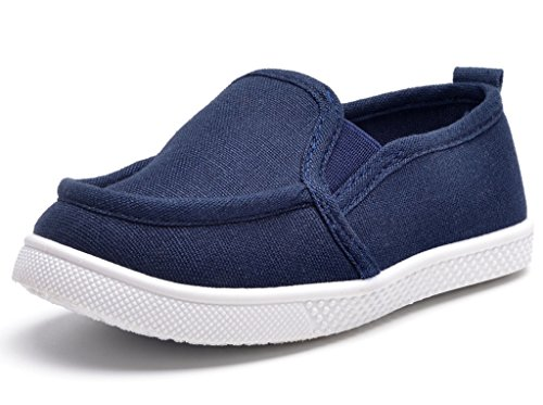 DADAWEN Babys Boys Girls Canvas Light Weight Slip-On Loafer Casual Running Sneakers