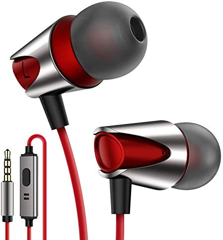 Kuulaa Comfortable Microphone Headphones Samsung Red product image