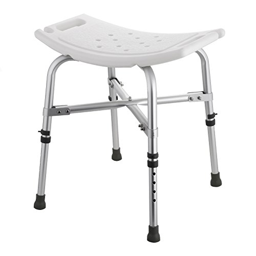 Bench Heavy Bath Duty Adjustable (Flagup Heavy Duty Bath Bench, Adjustable Anti-Slip Bathtub Shower Stool Chair Seat,Supports up to 330lbs (Type B))