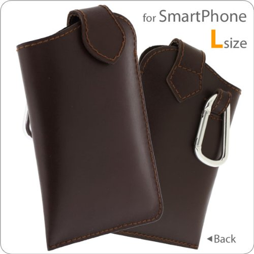 Large High-End Soft Genuine Leather Mobile Case for iPhone 4S, Smartphones (Brown)