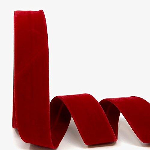Byetsa Red 30mm Velvet Bias Tape on a 10m Roll by Byetsa