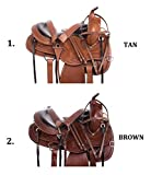 "AceRugs 15"" 16"" 17"" 18"" GAITED Horse Saddles Western Trail Endurance Comfy CUSH DEEP SEAT Leather TACK Bridle Breastplate"