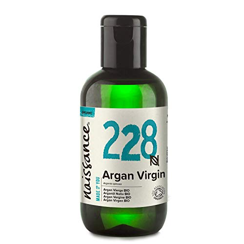 Naissance Organic Moroccan Argan Oil 3.4 fl oz/100ml - Pure & Natural, UK Certified Organic, Vegan, Hexane Free, No GMO - Unscented Natural Moisturizer & Conditioner for Face, Hair, Skin