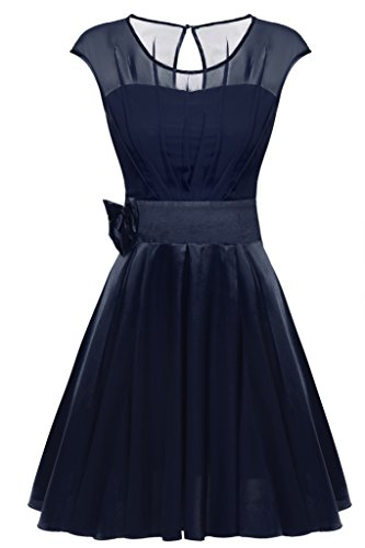 ACEVOG-Women-Round-Neck-Bridesmaid-Prom-Ruffle-Chiffon-Satin-Party-Cocktail-Dress