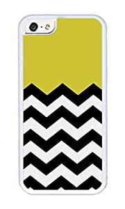 iPhone 5C Case,VUTTOO iPhone 5C Cover With Photo: Mustard Chevron For Apple iPhone 5C - TPU White