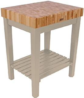 product image for John Boos American Heritage Gray End Grain Maple Chef's Block with Slatted Shelf