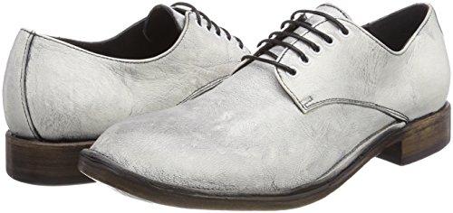 Blanco Plesenville Cordones Para Bianco bianco De Zapatos Derby Preventi Mujer vqdH0S0