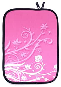 Emartbuy® Rosa Garden Resistente Al Agua Estuche De Neopreno Zip Soft / Carcasa Adecuada Para Asus VivoBook S550CA (15-16 Inch Laptop / Notebook)