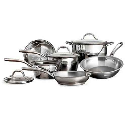 Tramontina Tri-Ply Stainless-Steel 9-Piece Cookware Set by Tramontina
