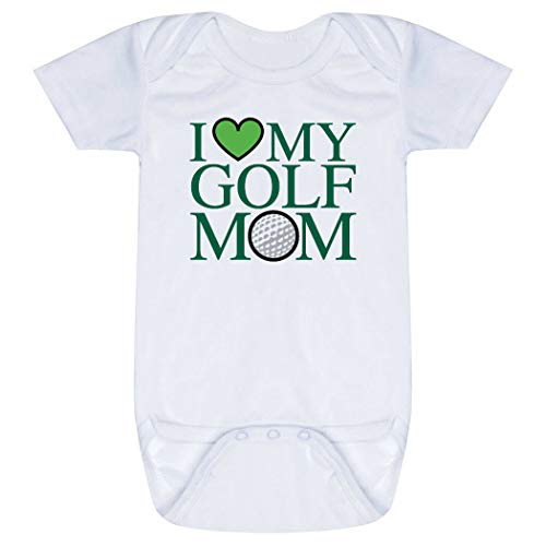 Golf Baby & Infant Onesie | I Love My Golf Mom | Green | One Piece Medium